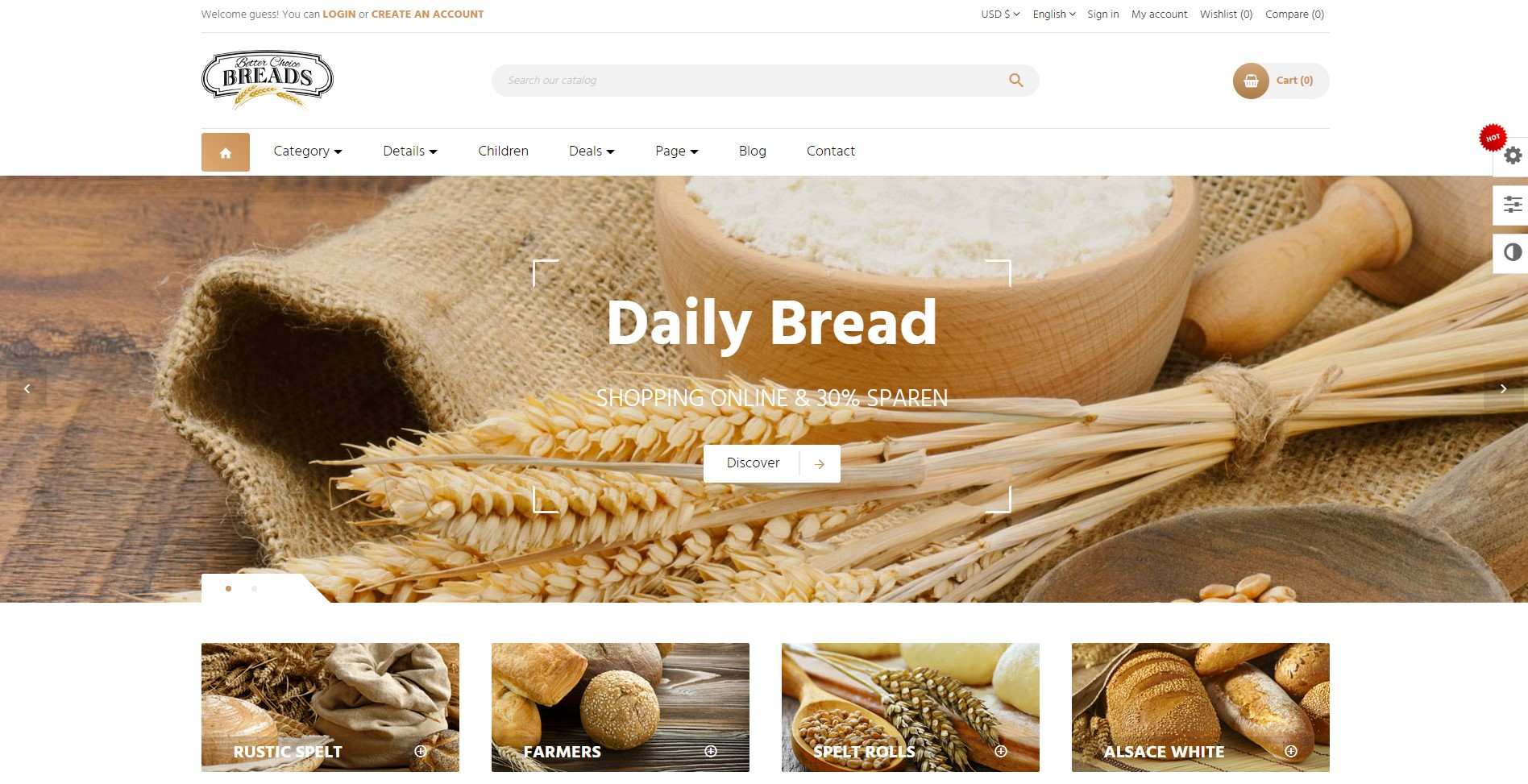 leo bread Best Food PrestaShop Themes for Cake, Bread, Gatouxe