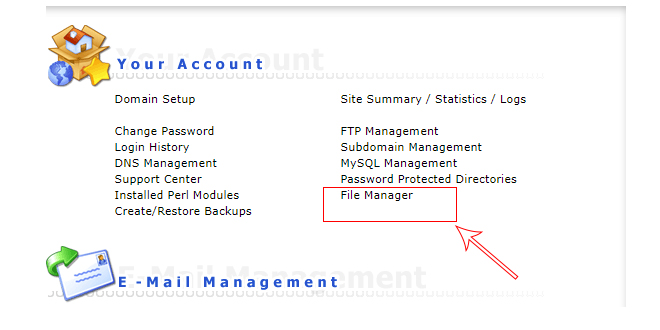 access file manager cpanel - use file manager tool cpanel