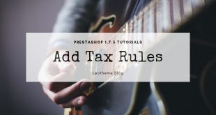 add tax rules prestashop 1.7