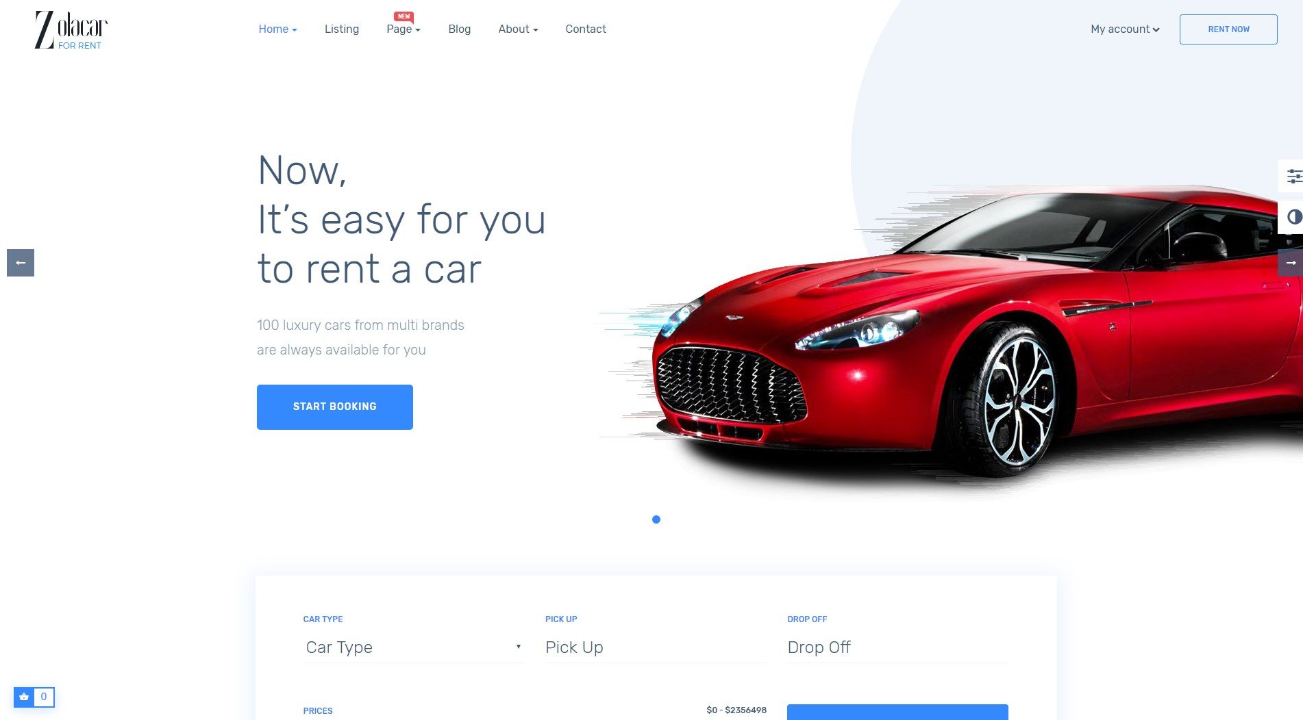 Leo Rent Car PrestaShop Theme