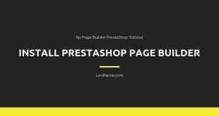 install prestashop page builder