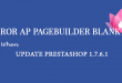 Error with Ap Pagebuilder in Prestashop version 1.7.6.1