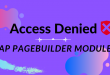 Error: Access Denied When Access Ap Pagebuilder Module