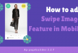 how to add swipe image feature in mobile version