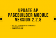 Update Ap Pagebuilder Module Version 2.2.8