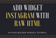 Ap Page Builder Module Tutorial – Add Instagram with Raw HTML Widget