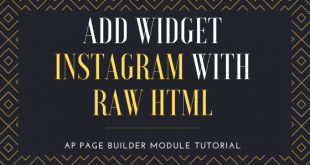 Add widget Instagram with Raw HTML