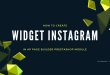 how to create widget instagram in ap page builder prestashop